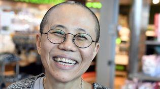 Liu Xia, veuve du Prix Nobel Liu Xiaobo, à Vantaa (Finlande), le 10 juillet 2018. (JUSSI NUKARI / LEHTIKUVA)