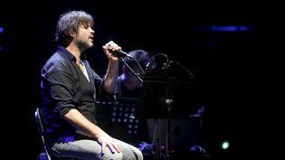 Le chanteur Bertrand Cantat lors d'un concert aux Correspondances de Manosque (Alpes-de-Haute-Provence), le 25 septembre 2016. (MAXPPP)