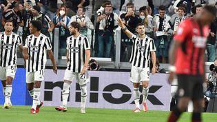 Alvaro Morata ouvre le score pour le Juventus Turin contre le Milan AC, dimanche 19 septembre 2021 (ALESSANDRO DI MARCO / ANSA)