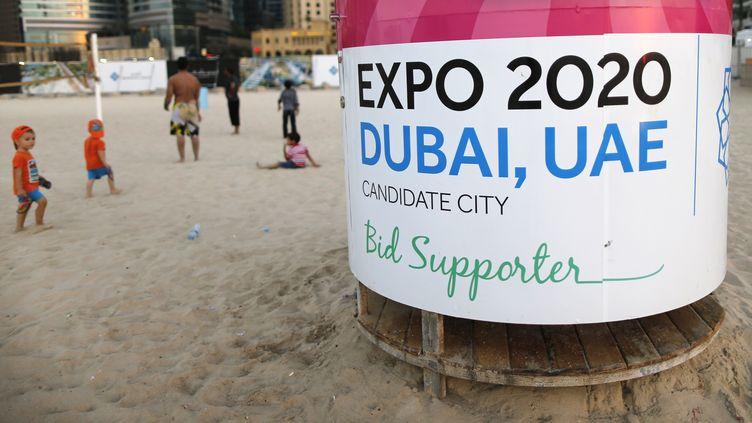 Un événement pour faire la promotion de l'Exposition universelle à Dubaï (Emirats arabes unis), le 20 octobre 2013. (AHMED JADALLAH / REUTERS)