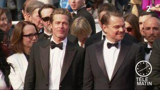 Brad Pitt et Leonardo Dicaprio à Cannes. (France 2)