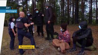 La police allemande multiplie les contrôles à la frontière polonaise. (FRANCEINFO)