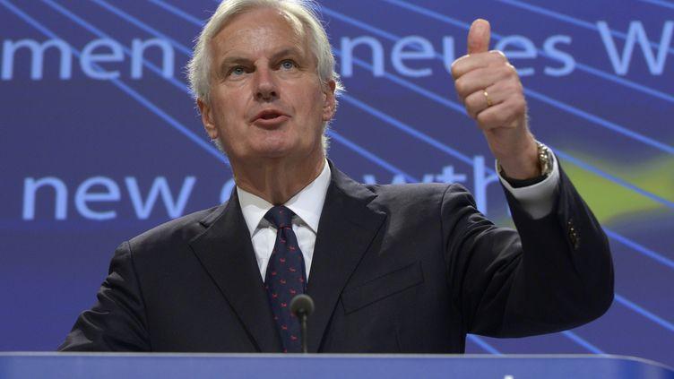 Michel Barnier,le commissaire européen chargé des Services financiers, le 24 juillet 2013 à Bruxelles. (ERIC VIDAL / REUTERS)