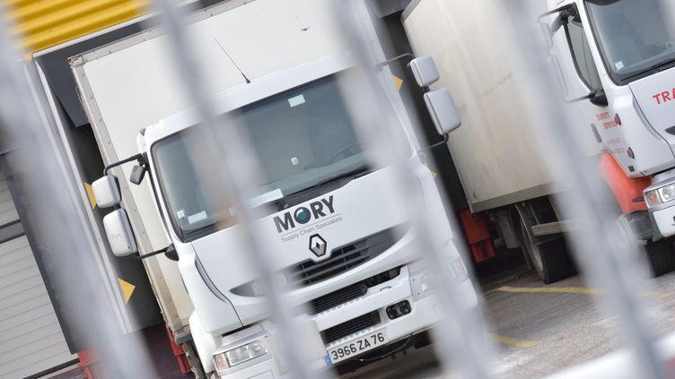 Le site du transporteur Mory Global, àPortes-lès-Valence (Drôme), le 7 février 2015. (CHRISTOPHE ESTASSY / CITIZENSIDE / AFP)