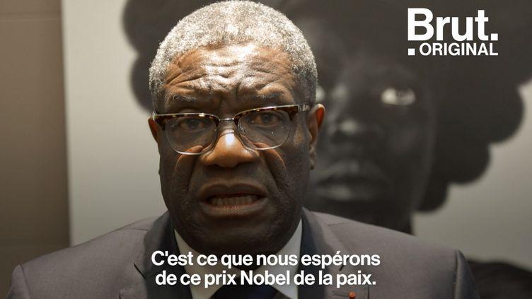 VIDEO. Le prix Nobel de la paix Denis Mukwege debout contre l'usage du viol comme arme de guerre (BRUT)