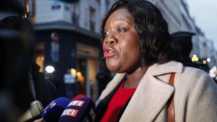 Laetitia Avia, rapporteure de la proposition de loide lutte contre la haine en ligne, le 16 février 2020 à Paris. (ZAKARIA ABDELKAFI / AFP)