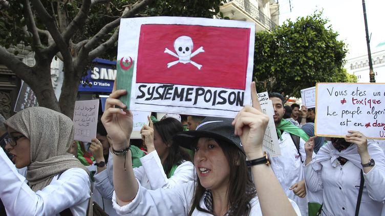 Manifestation d'étudiants à Alger, le 16 avril 2019. (- / AFP)
