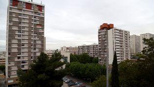 La cité de la Busserine, dans le 14e arrondissement de Paris, le 2 mai 2017. (MAXPPP)