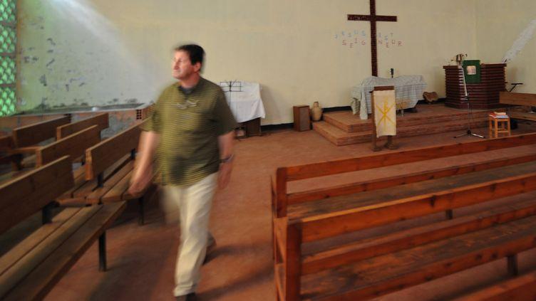 Unpasteur algérien dans son église, le 7 juin 2008 à Alger. (FAYEZ NURELDINE / AFP)