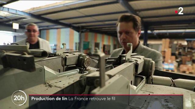 Production de lin : des entreprises relocalisent en France pour faire revivre la filature française