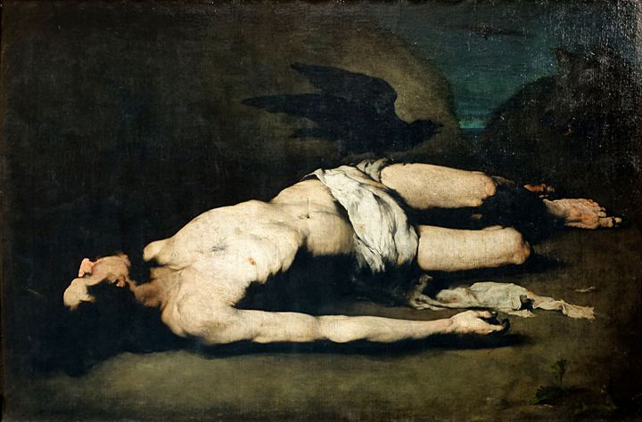 """Théodule RIBOT, """"Saint Vincent"""", vers 1860, Palais des Beaux-Arts - Lille (© RMN-Grand Palais - Philippe Bernard)"""