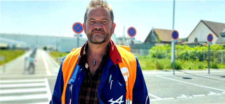 Dominique Séraphin, élu CFDT à l'usine Renault de Dieppe. (VALENTIN DUNATE / RADIO FRANCE)
