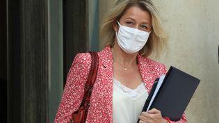 La ministre de la Transition écologique, Barbara Pompili, à la sortie du conseil des ministres, à l'Elysée, le 3 septembre 2020. (LUDOVIC MARIN / AFP)