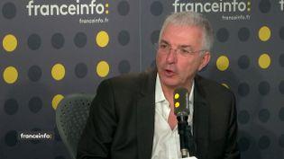 Gilles Bonnefond, président de l'Union des syndicats des pharmaciens d'officine, était l'invité de franceinfo jeudi 28 février (FRANCEINFO / RADIOFRANCE)