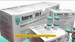 Letraitement anticoronavirus par Interféron est à l'étude en France (FRANCEINFO)