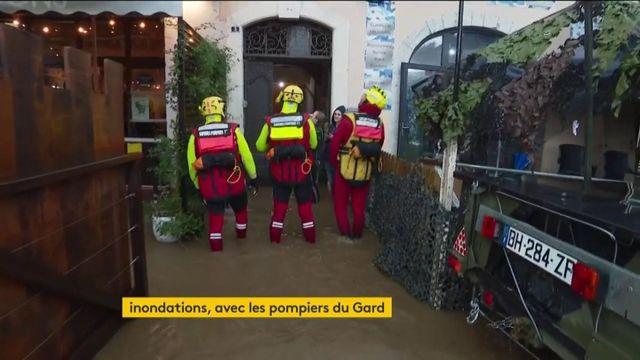 Inondations dans le Gard : priorité aux évacuations pour les pompiers