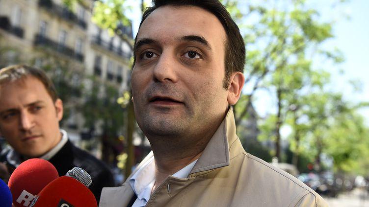 Florian Philippot, à Paris, le 9 mai 2017. (BERTRAND GUAY / AFP)