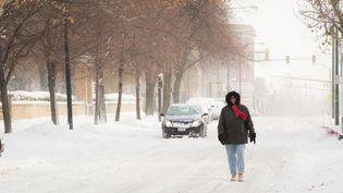 Une femme marche au milieu d'une rue couverte de neige Buffalo (Etat se New York, Etats-Unis), le19 Novembre 2014. (REUTERS)