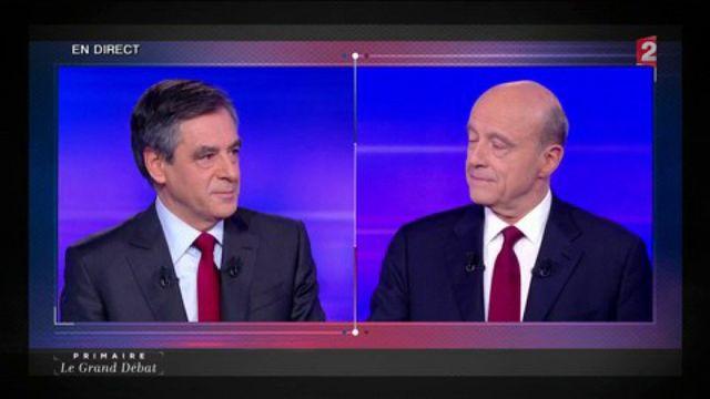 Primaire de la droite : les deux candidats évoquent la condamnation d'Alain Juppé
