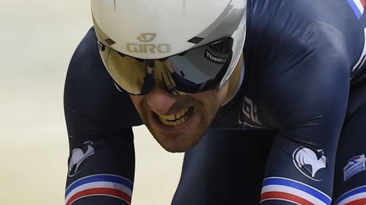 Julien Morice médaillé de bronze de la poursuite aux Mondiaux 2015 (ERIC FEFERBERG / AFP)