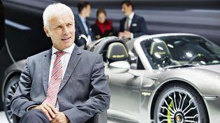 Matthias Müller durant le 65e Salon international de l'automobile à Francfort (Allemagne), le 11 septembre 2013. (RENE FLUGER/AP/SIPA / AP)