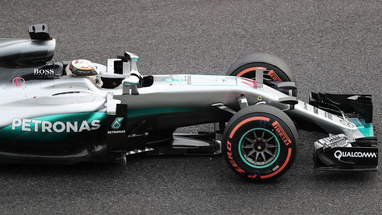Lewis Hamilton (Mercedes) est encore parti à la faute (BEHROUZ MEHRI / AFP)
