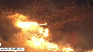 La Calirfornie en proie aux flammes. (FRANCEINFO)
