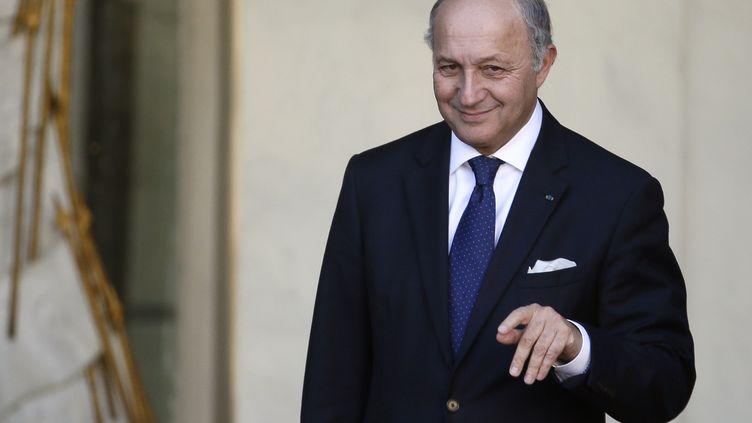Le ministre des Affaires étrangères,Laurent Fabius, le 13 novembre 2013. (PATRICK KOVARIK / AFP)