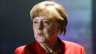 La chancelière Angela Merkel à Berlin (Allemagne), le 12 mai 2016. (HANNIBAL HANSCHKE / AFP)
