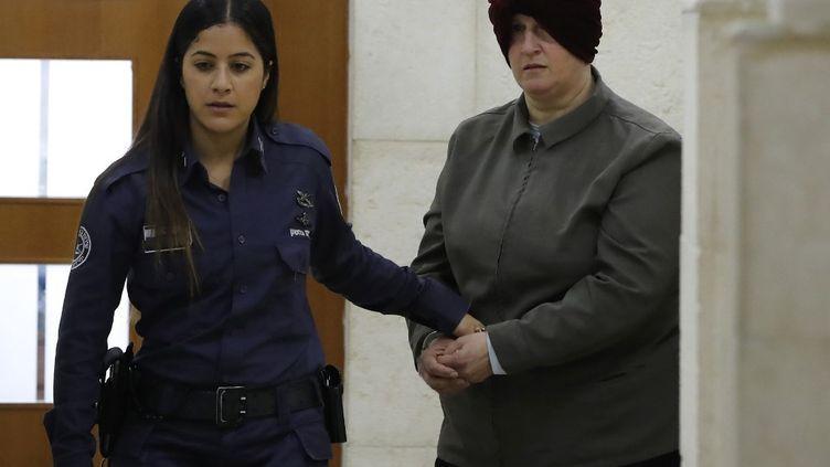 MalkaLeifer (à droite), lors d'une audience le 27 février 2018 à Jérusalem. (AHMAD GHARABLI / AFP)