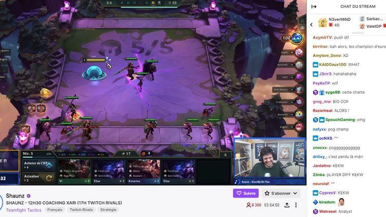 Un direct sur la chaîne de Shaunz, l'un des streamers très populaires sur Twitch. (CAPTURE D'ÉCRAN TWITCH)