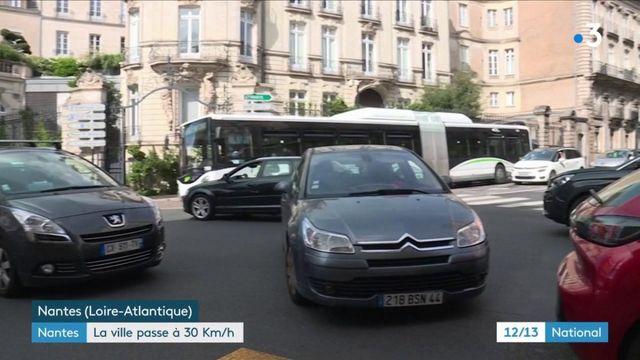 Loire-Atlantique : la circulation automobile limitée à 30km/h à Nantes