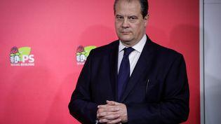 Le Premier secrétaire du PS, Jean-Christophe Cambadélis, le 26 avril 2016 à Paris. (MAXPPP)