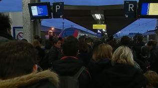 Gare de Paris Bercy, surchargée le 23 décembre 2017. (FRANCE 2)