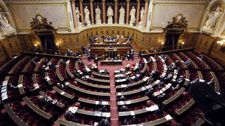 Au Sénat, lors du débat sur la proposition de loi pénalisant la négation des génocides, à Paris, le 23 janvier 2012. (ERIC FEFERBERG / AFP)