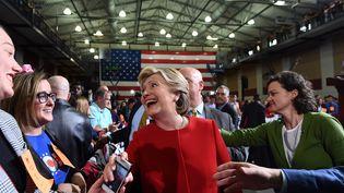 Hillary Clinton en meeting dans l'Ohio le 31 octobre 2016. (JEWEL SAMAD / AFP)