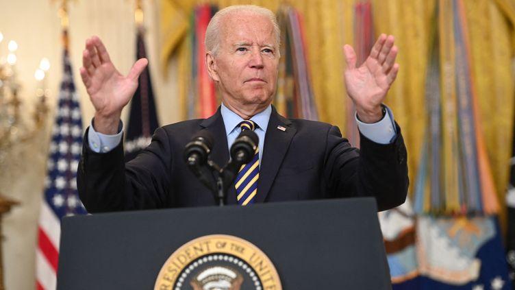 Le président américain Joe Biden, le 8 juillet 2021 à Washington (Etats-Unis). (SAUL LOEB / AFP)