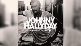 """Johnny Hallyday sur la pochette de son 51e album """"Mon Pays c'est l'amour"""".  (Warner)"""