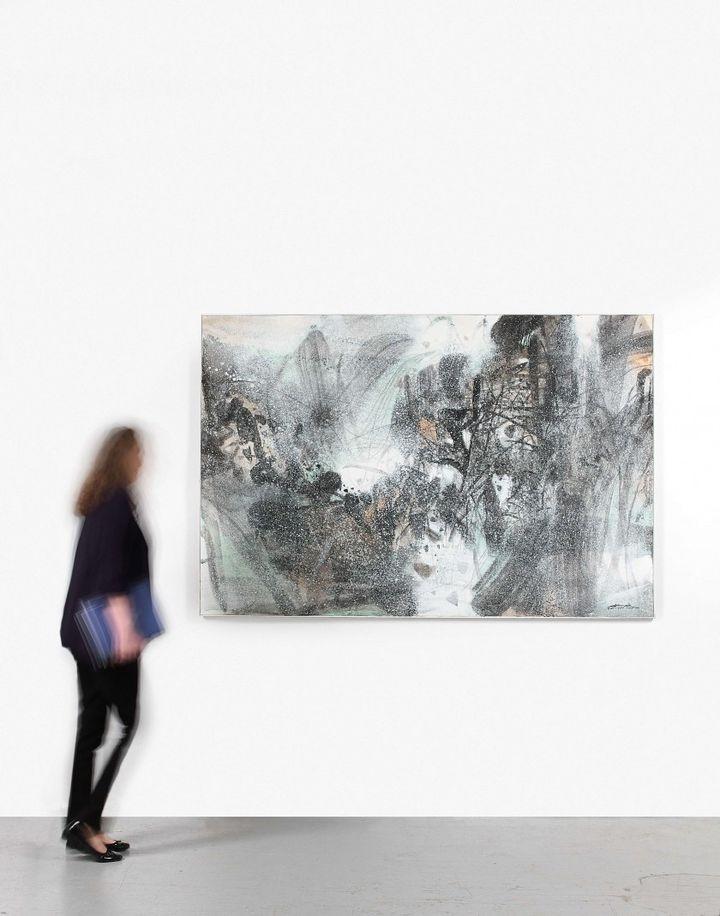 "L'oeuvre ""Synthèse hivernale C""du peintre chinois ChuTeh-Chun (ARTCURIAL)"