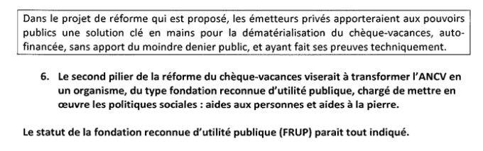 Extrait d'une note non-signée adressée à l'équipe de campagne d'Emmanuel Macron pour la présidentielle 2017, à propos des chèques-vacances. (CELLULE INVESTIGATION DE RADIOFRANCE)