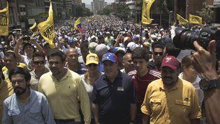 A Caracas, la capitale du Venezuela, de nombreux manifestants ont crié leur colère envers le président Nicolas Maduro, le 19 avril2017. (RICHARD GONZALEZ / NURPHOTO)