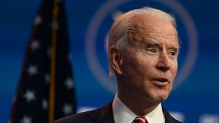 Le président élu américain Joe Biden, lors d'une conférence de presse à Wilmington (Delaware), le 16 novembre 2020. (ROBERTO SCHMIDT / AFP)