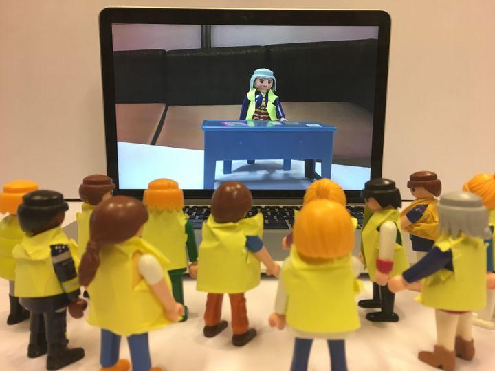 """Jacline Mouraud est devenue l'une des porte-parole des """"gilets jaunes, à la suite d'une vidéo postée le 18 octobre 2018 sur Facebook, vue plus de 6 millions de fois. (GUILLEMETTE JEANNOT / FRANCEINFO)"""