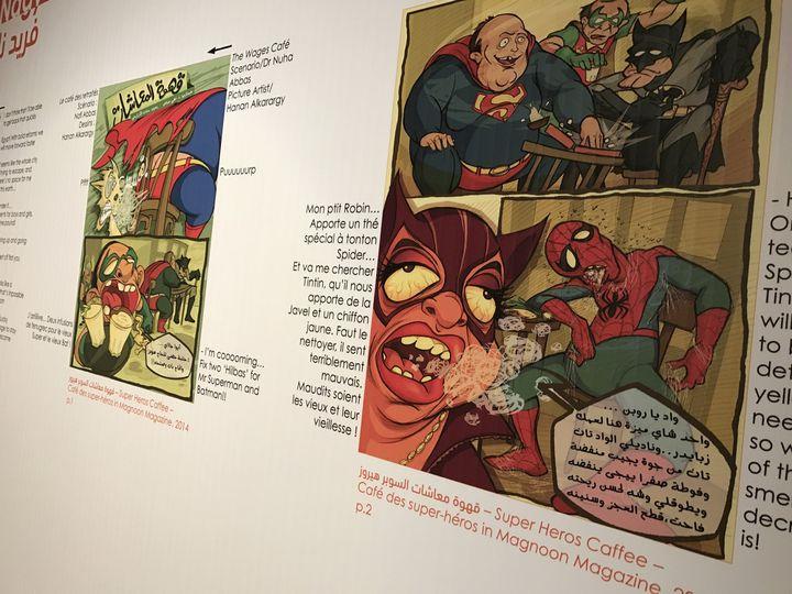 """""""Le café des super héros"""", Hannan Alkarargy (Egypte)"""