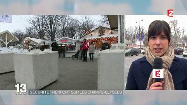 Sécurité : les Champs-Élysées placés sous haute surveillance pour le réveillon