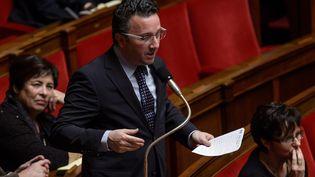 Le député-maire de Roanne, Yves Nicolin, s'exprime à l'Assemblée nationale, le 17 décembre 2014, à Paris. (  MAXPPP)