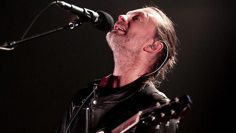 Thom Yorke sur scène avec Radiohead le 20 mai à Amsterdam, coup d'envoi de leur tournée 2016.  (Paul Bergen / ANP / AFP)
