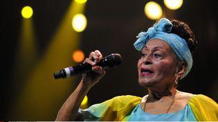 Omara Portuondo au festival de jazz de Marciac, 2014  ( FOURCADE FERNAND/SIPA)