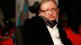 L'astrophysicien britannique Stephen Hawking, le 8 février 2015 à Londres (Royaume-Uni). (JUSTIN TALLIS / AFP)