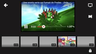 """Une parodie pro-cannabis de la comptine """"Une souris verte"""", sur l'application YouTube Kids, dans une capture d'écran prise le 15 novembre 2017. (YOUTUBE KIDS)"""